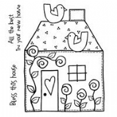 Woodware - Bless This House - Clear Magic Stamp Set - FRS181